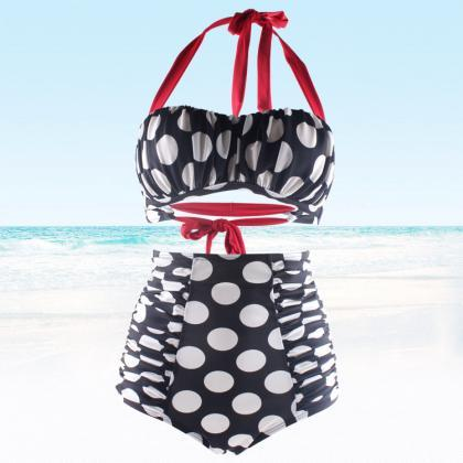 New Swimsuit Bikini Sexy Polka Dot ..
