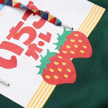 Black/Green color Strawberry Print ..