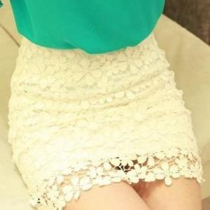 Fashion Nice Crochet Lace High Wais..