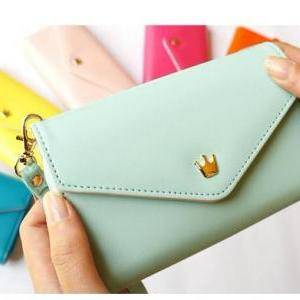Mint Green Phone Bag Purse Change P..