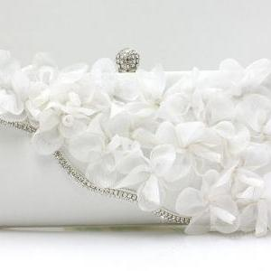 Silver Color Bridal Pearl Clutch-Lu..