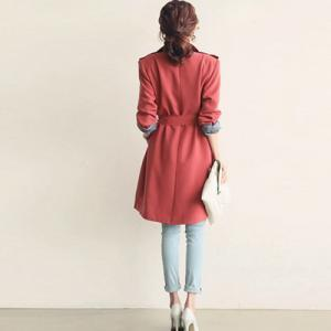 Fashion Pure Color Long Sleeve Turn..