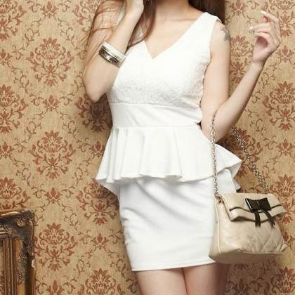 new fashion Sexy Lace Stitching Dre..