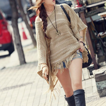 Hot sale Casual Solid Sweater Hollo..