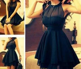 Black Nice Show Thin Net Dress