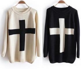 Cross Sweater Loose Sweater for women