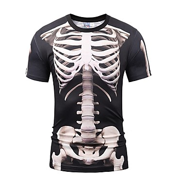 Skeleton / Skull Cosplay Cosplay Costume Men's Unisex Halloween Carnival Day of the Dead Festival / Holiday Halloween Costumes Outfits Gray & Black Vintage