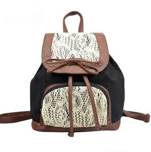 Retro Cute Lace Bowknot Backpack Bag