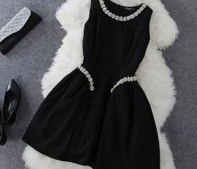 2015 summer Black dress for girl