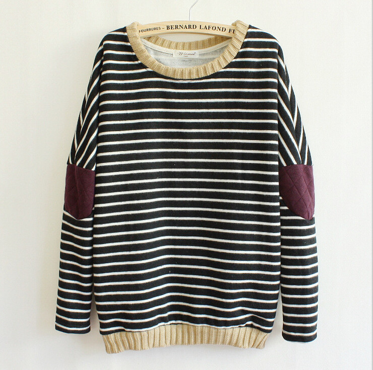 Hot sale Fashion Striped Patch Sweater for women