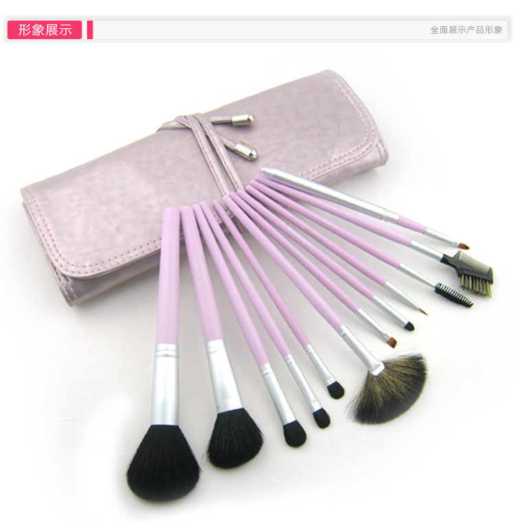 High Quality Goat Hair Wool Purple 12Pcs Professional Beauty Makeup Brush Set With Bag LPYT39RELC870206ZJOIO L6BYI03F3BC