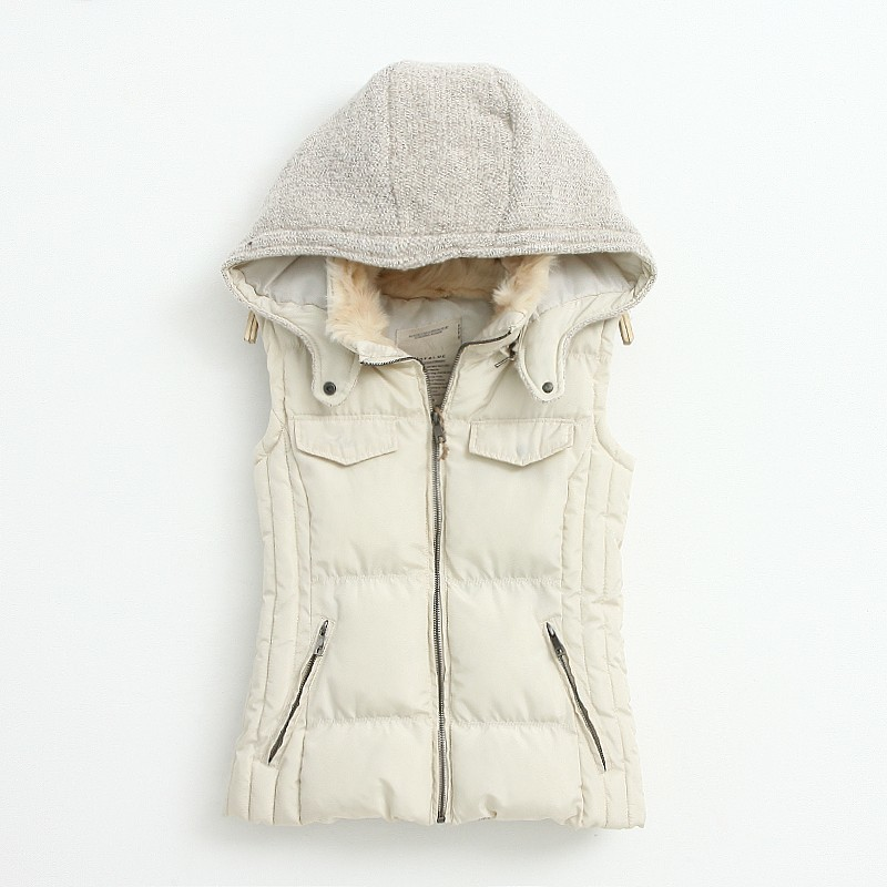 Knitting Stitching Slim Hooded Cotton