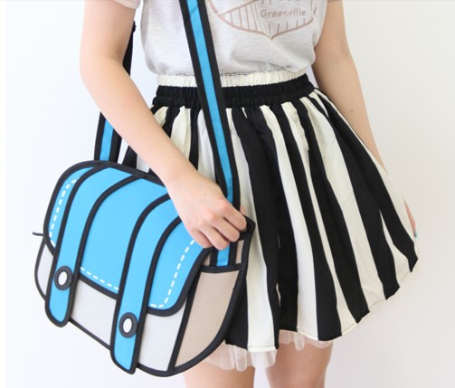 3D Cartoon Handbag Shoulder Bag