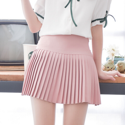 2016 summer new fashion Retro Pleated Skirt