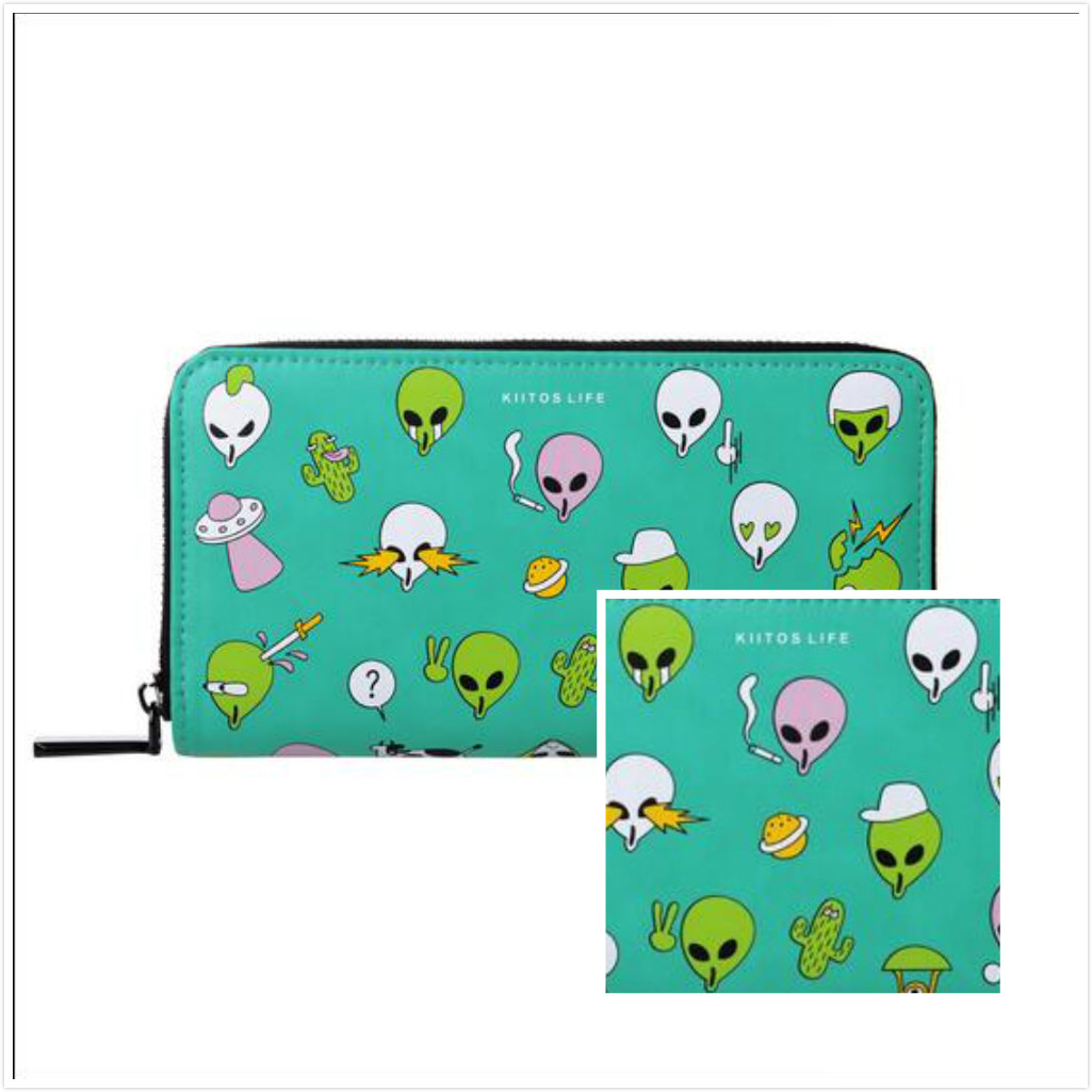 Free shipping extra-terrestrial wallet#357