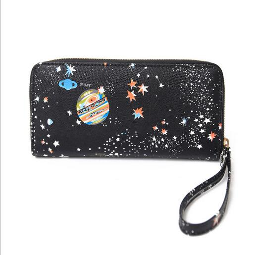 Free shipping cute star planet wallet #356