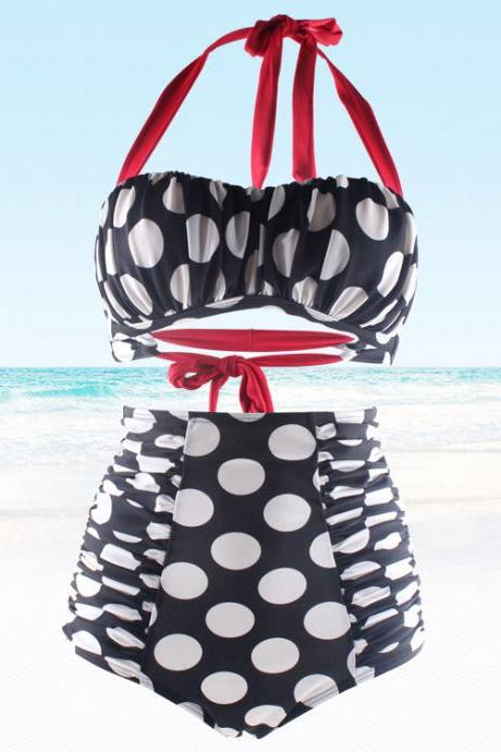 New Swimsuit Bikini Sexy Polka Dot Bathing Suit Push Up Swimwear