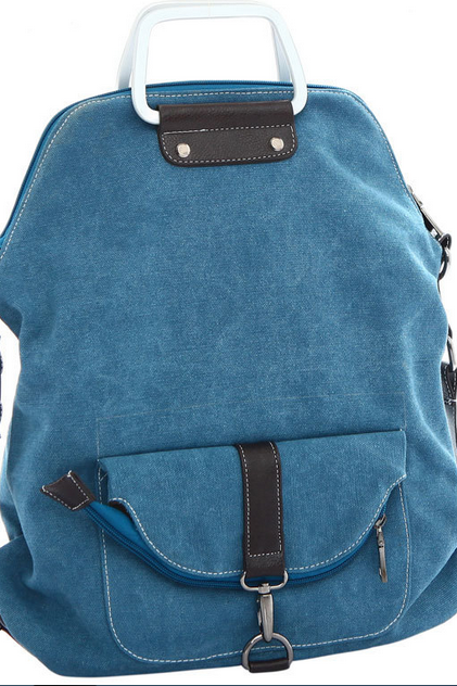 Fashion canvas shoulder bag backpack