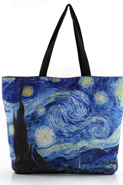 Van Gogh print single shoulder bag canvas bag handbag