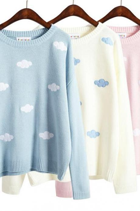 Kawaii Cloud Sweater