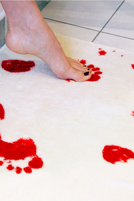 Blood Bath Bath Mat Blood print carpet,Non-slip Mat