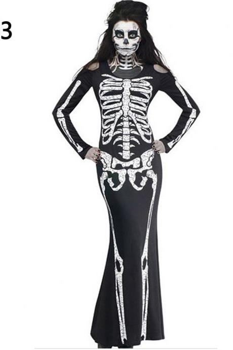 Halloween Macabre skeleton cosplay cloth