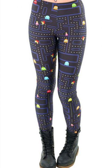 Printed Leggings Pants Sexy Slim Long Pencil Trousers/Fashion Tights/Yoga pant