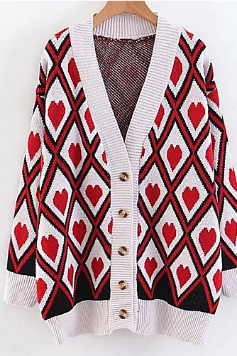 Women's Color Block Street chic Cardigan