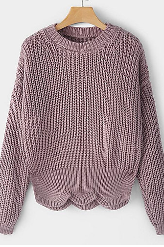 Women's Solid Colored Long Sleeve Pullover sweater