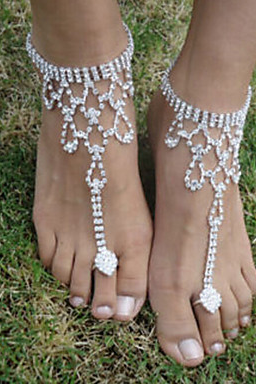 Women's Barefoot Sandals - Bird Fashion Jewelry Silver For Wedding Party Halloween