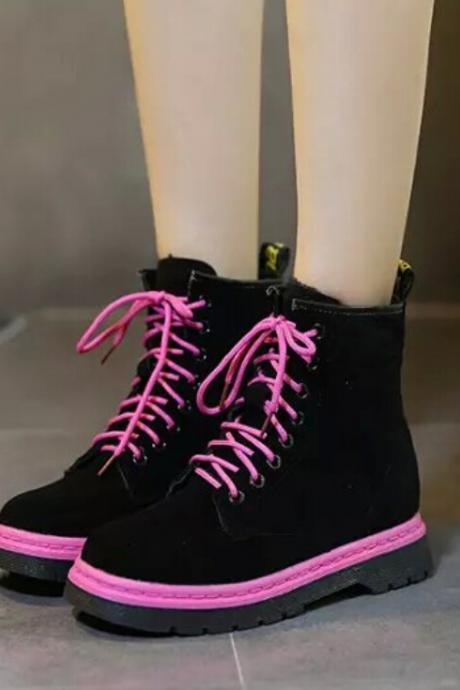 New 2015 Fall Winter Lace Up Ankle Boots