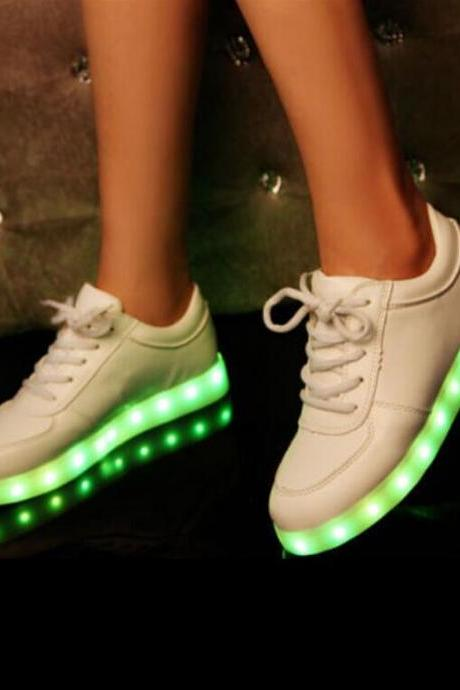 2015 new design Colorful glow luminous LED shoes