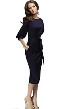 2016 Women's Vintage Sexy Party Casual OL Style Bodycon Slim Chiffon Dress