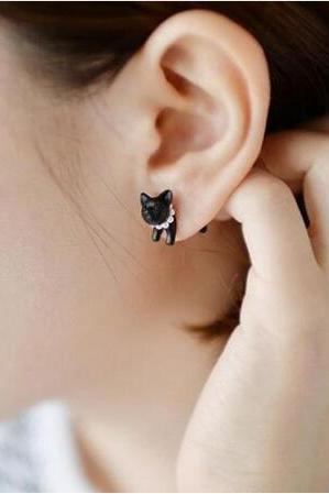 Harajuku 3D Cat Piercing Earrings