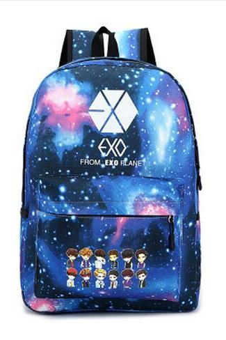 Women's Harajuku Colorful Canvas EXO Bag Backpack
