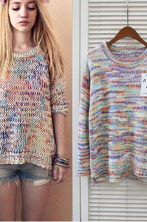 women plus size knitted pullovers sweater