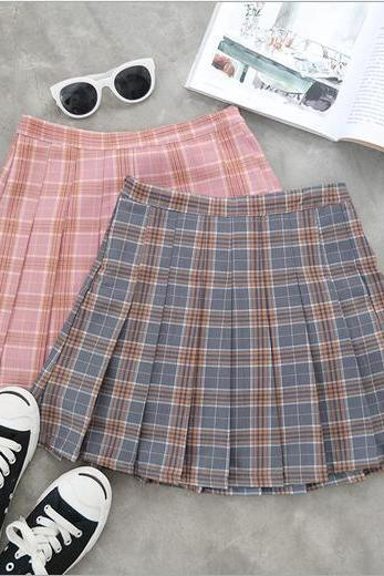 Gradient Pleated Skirt