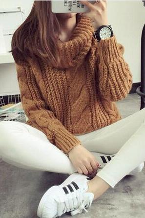 Knit Women Winter Sweater Pullover