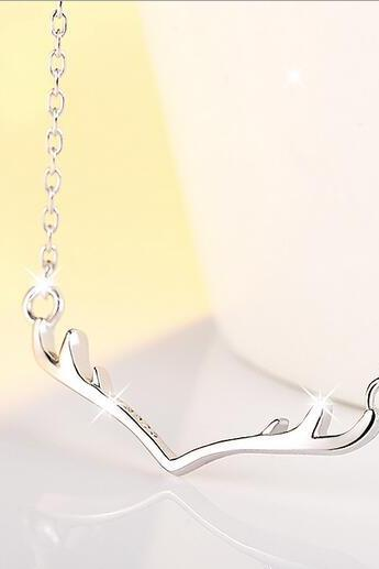 free shipping S925 antlers/deer horn necklace for chrismas