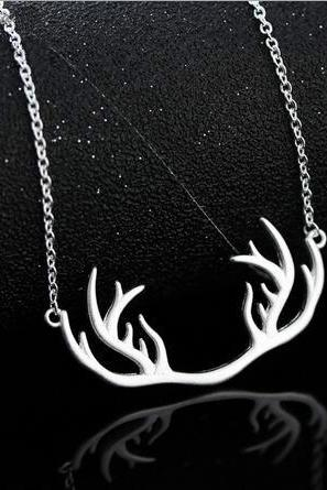 Free shipping antler/deer horn necklace for chrismas gift