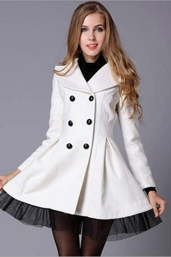 High Quality Wool Coat Fashion Trench Winter Coat For Women-Women Coat Winter Lace Coats