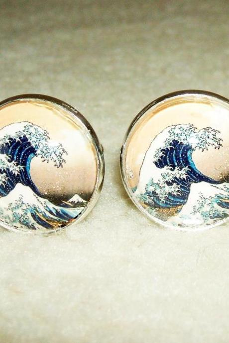 GREAT WAVE Cuff Links