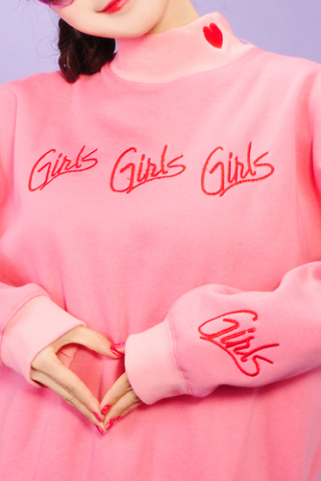 Free shipping GIRLS embroidery SWEATER