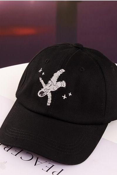spaceman embroidery baseball cap hat