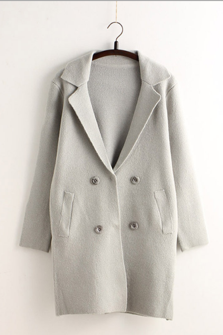 Loose Knit Cardigan Sweater coat