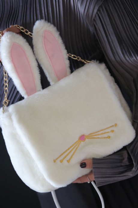 Fashion Furry Rabbit Bag