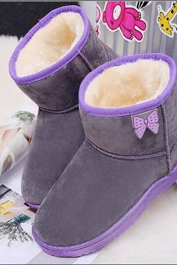 Free shipping skid resistance warm butterfly snow boots #YYL24