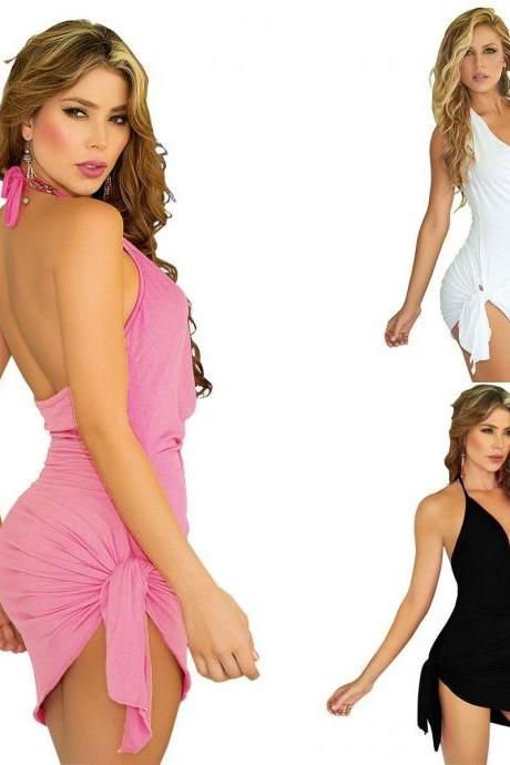 Sexy Women Summer beach Sleeveless Party Dress
