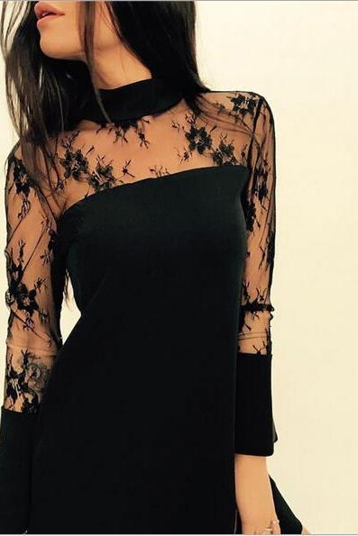 Europe and America style sexy lace dress