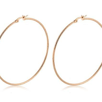 Gold Rigant 18K RGP Circle Hoop Earrings